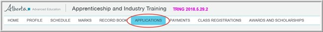 MyTradesecrets account navigation with Applications highlighted